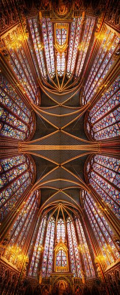 It's one of my favorite photos from France inside the Sainte Chapelle. When I was there, I managed to sneakily get my tripod into position, much to my wife's chagrin. Oh, and the chagrin of security once they finally discovered my rouse (which is very difficult to hide, btw). Anyway, I got my shots before getting in trouble… - Paris, France - Photo from #treyratcliff Trey Ratcliff at http://www.StuckInCustoms.com