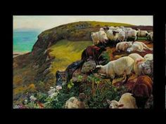 William Holman Hunt, Our English Coasts ('Strayed Sheep'), 1852. in the Google Art Project.