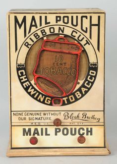 Mail Pouch Ribbon Cut Chewing Tobacco Radio. Extremely rare.