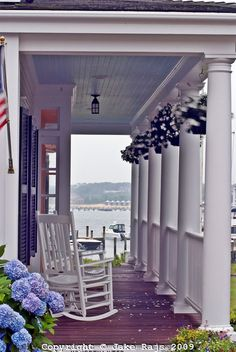 Front Porch- Edgartown, Martha's Vineyard-When you sit here & look across the road you see the light house, loved this sitting area on the porch!