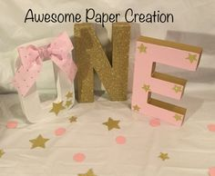 One Paper mache letters,8 inches tall,twinkle twinkle little star party,twinkle twinkle little star theme,first birthday photo props