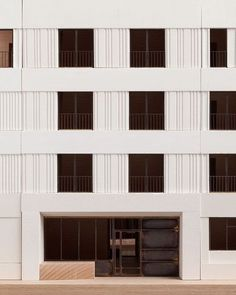 Strand East by Mæ Designed to an efficient structural grid using modern methods of construction in the form of texturally rich and precision-engineered precast concrete wall panels. #architecture #design Visit our Instagram page here: