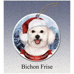 Bichon Frise Howliday Dog Christmas Ornament