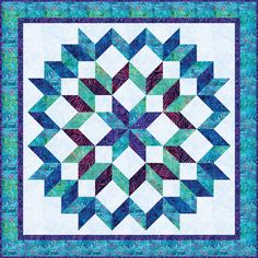 Quilts, Free Quilt Patterns and Designer Patterns: Robert Kaufman Fabrics 3d Quilts, Big Block Quilts, Star Quilt Blocks, Star Quilt Patterns, Star Quilts, Lone Star Quilt Pattern, Batik Quilts, Quilting Fabric, Quilting Projects