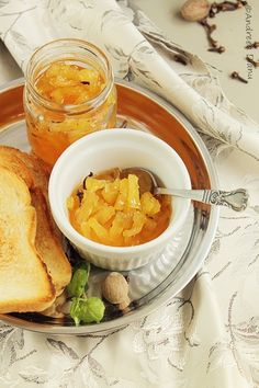 Pineapple Jam- best jam perfect for breakfast with toast butter or yogurt. (in Romanian) Pineapple Jam, Jam And Jelly, Preserves, Pickles, Yogurt, Bacon, Deserts, Toast, Sweets