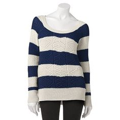 SO sweater comes in stripes and solid colors
