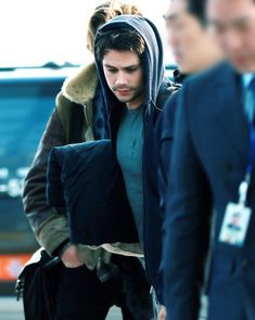 NEW: Dylan at the airport in Seoul, South Korea.""