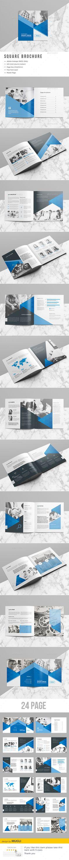 Square #Brochure - #Corporate Brochures Download here: https://graphicriver.net/item/square-brochure/19576642?ref=alena994