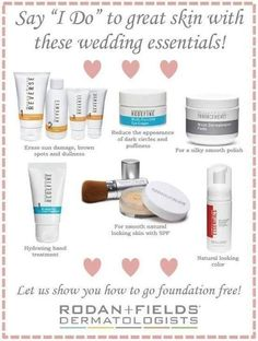 "Married? Yeah, Married! Whether it's you or someone you love, say ""I do"" to bright, even, glowing, more radiant skin for the big day! From the doctors who created Proactiv Solution, Rodan + Fields has everything you will need to be aisle-walking ready from head to toe!"