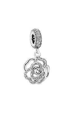 PANDORA 'Shimmering Rose' Dangle Charm available at #Nordstrom