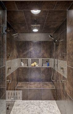 Best Stunning Modern Bathroom Shower Design Ideas - Page 56 of 63 Small Bathroom With Shower, Bathroom Design Small, Bathroom Interior Design, Bathroom Designs, Shower Designs, Small Bathrooms, Bath Design, Tile Design, Shower Bathroom