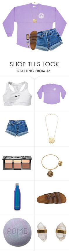 """thanks for 400!!!"" by southernmermaid ❤ liked on Polyvore featuring NIKE, Sephora Collection, Alex and Ani, S'well, Birkenstock and Better Late Than Never"