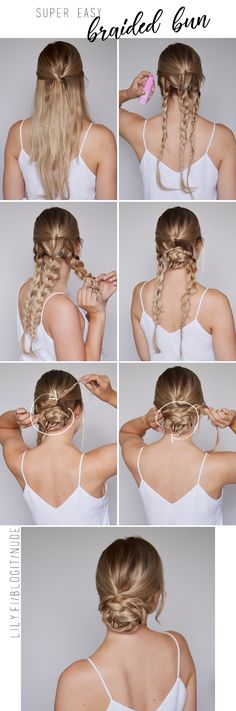 Easy braided updo for a wedding! <3