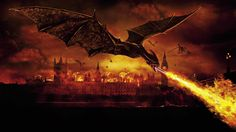 dragons breathing fire | oh no there s a fire breathing dragon burning england