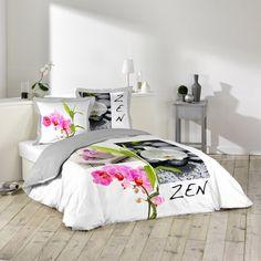 Une parure de lit zen vraiment belle. Avec housse de couette et taies d'oreillers. #déco #zen #housse #chambre