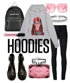 """Hoodie hood"" by jasminsangalyan on Polyvore featuring Bling Jewelry, Off-White, Balenciaga, Gucci, Alexander McQueen, Marc Jacobs and Hoodies"