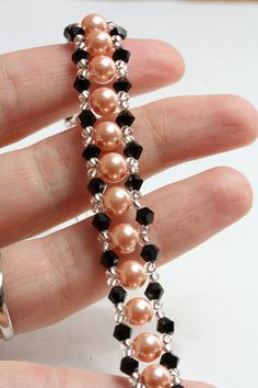 Crystal and pearl elegant bracelet by AGoodBead on Etsy, $11.00