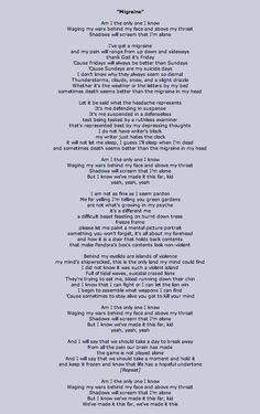 migraine twenty one pilots - Kitchen Sink Lyrics