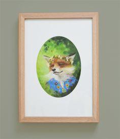 Happy Hippy Foxy Fox, Woodland Print Childrens Room Art | Chickenrittle | madeit.com.au