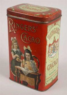 Vintage Tins, Vintage Labels, Primitive Dining Rooms, Vintage Cigarette Case, Cocoa Chocolate, My Old Kentucky Home, Tea Tins, Vintage Interiors, Art Nouveau