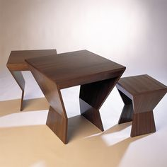 #antoine_proulx #et_54 #nesting_tables.  Please contact Avondale Design Studio for more information on any of the chairs we highlight on Pinterest.