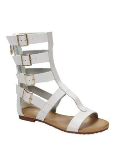 Rome Gladiator Sandals - White