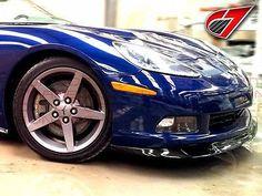 05-13 Chevrolet Corvette ZR1 Style Front Splitter for Base C6   Carbon Fiber