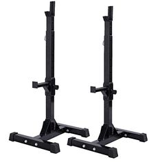 Muorka Pair of Adjustable Standard Squat Rack Solid Steel Squat Stands Barbell Free Bench Press Stands -- Read more reviews of the product by visiting the link on the image.