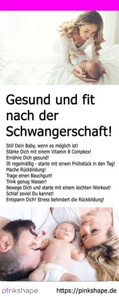 Die 9 wichtigsten Tipps um nach der Schwangerschaft gesund und fit zu werden!    #schwangerschaft #gesund #postpartum #afterbabybody #wochenbett #gesundheit #vitaminbcomplex #fitness Workout, Pregnancy, Fitness, Baby, Movies, Movie Posters, Pelvic Floor, Feel Better, Parents
