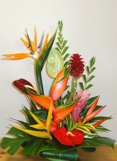tropical flower arrangements | Subject to availability of flowers. Medium Tropical Arrangements $60 ...
