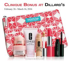 It's the time of the year again; bonus time at Dillard's starts today. Online and instores. A 7-pc Clinique gift - free with any $27 Clinique purchase. http://clinique-bonus.com/dillards/