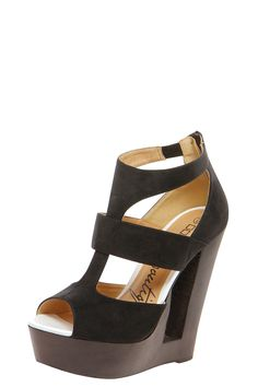 Boutique Amelia Cut Work Wooden Wedge at boohoo.com