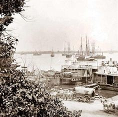City Point, Virginia. View of barges transports, etc