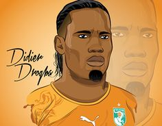 """Check out new work on my @Behance portfolio: """"Didier Drogba Illustration"""" http://be.net/gallery/40963167/Didier-Drogba-Illustration"""