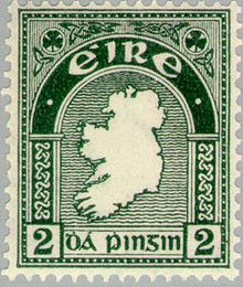 Until 20 years ago or thereabouts, Ireland had some beautiful postage stamps. This is an early 2d issue, from the 1940s.
