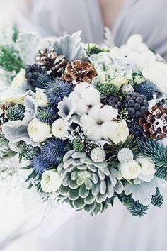 Winter Wonderland Wedding Theme, Winter Wedding Decorations, Winter Wedding Flowers, Floral Wedding, Winter Wedding Venue, Outside Winter Wedding, November Wedding Flowers, Bridesmaid Flowers, Blue Wedding Colors