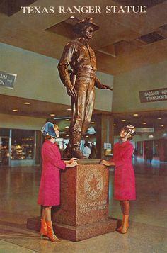 "Texas Ranger Statue at Dallas Love Field - Dallas, Texas The Immortal ""Texas Ranger"