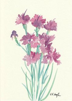 Watercolor Flowers Original Watercolor by GrowCreativeShop on Etsy
