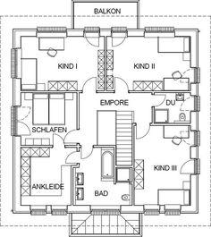 City villa mediterranean floor plan upper floor with 10362 m .- City villa mediterranean floor plan upper floor with 10362 m living space - Welcome To My House, Space Architecture, Sims House, Moving House, Kit Homes, Plan Design, Dream Decor, House Floor Plans, Home Interior Design