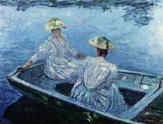 The Blue Row Boat ~ Claude Monet 10644839_797678703586120_5955796019866373664_n.jpg (500×383)