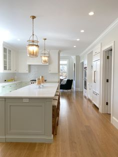 Project Update: Chestnut Hill New Build Kitchen Layout, New Kitchen, Kitchen Design, Kitchen Units, Farrow And Ball Kitchen, Chatham House, Cromarty, Two Tone Cabinets, Chestnut Hill