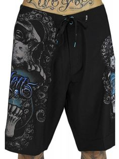 "Men's ""Darkness"" Shorts by Sullen Clothing (Black) #InkedShop #InkedMag #Darkness #Shorts #Black"