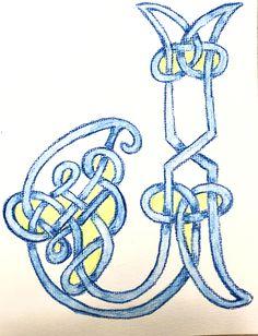 Im #Zeugnisbuch bekommt meine #Klasse dieses Jahr, als Vorschau für das #Formenzeichnen im nächsten Jahr, ihr #Monogram #waldorf #waldorfeducation #waldorfschule #3rdgrade #painting Celtic Knot, Knots, Monogram, Symbols, Art, Form Design, First Grade, To Draw, Art Background