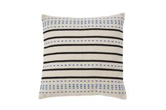 Striped Weave Pillow, Blue