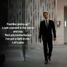 Image may contain: one or more people, people standing and suit Boss Quotes, True Quotes, Motivational Quotes, Inspirational Quotes, Wisdom Quotes, Quotes To Live By, Harvey Specter Quotes, Suits Quotes, Study Motivation Quotes