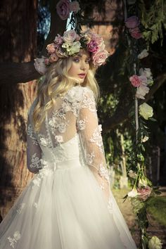 Charlotte Balbier Willa Rose Collection - Lilac Wedding Dress Bridal Gown