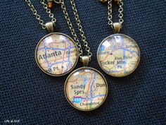 Life at 818: Crafty :: Map Pendant Necklace