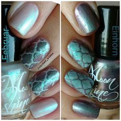 #moonshine #nagellack #februar und #einhorn in jeweils 2 Schichten mit #nailvinyls von #svenjasnailart in #quatrefoil 💅 #moonshinemineralmakeup #moonshinebeauty #nailpolish #nagellack #naillacquer #instanails #nailswag #nailsdone #manicure #notd #nailporn #nailsoftheday #nails #nägel #instapic #nailsofinstagram #nagellackliebe #nailpolishlover #nailpolishlove #nailart #nailinspirations