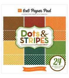 Echo Park Paper Company™ Paper Pad-Fall Dots & Stripes