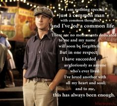 Sweetest quote. Not a huge fan of The Notebook but I have loved this quote since I read the book!